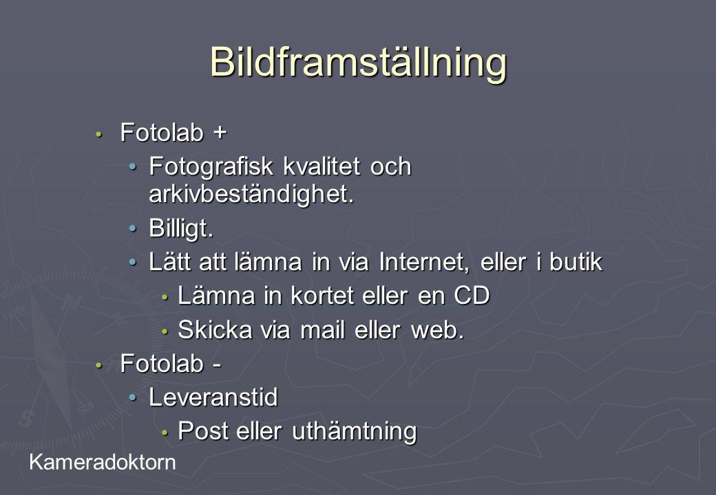 Kameradoktorn Bildframställning Fotolab + Fotolab + Fotografisk kvalitet och arkivbeständighet. Fotografisk kvalitet och arkivbeständighet. Billigt. B