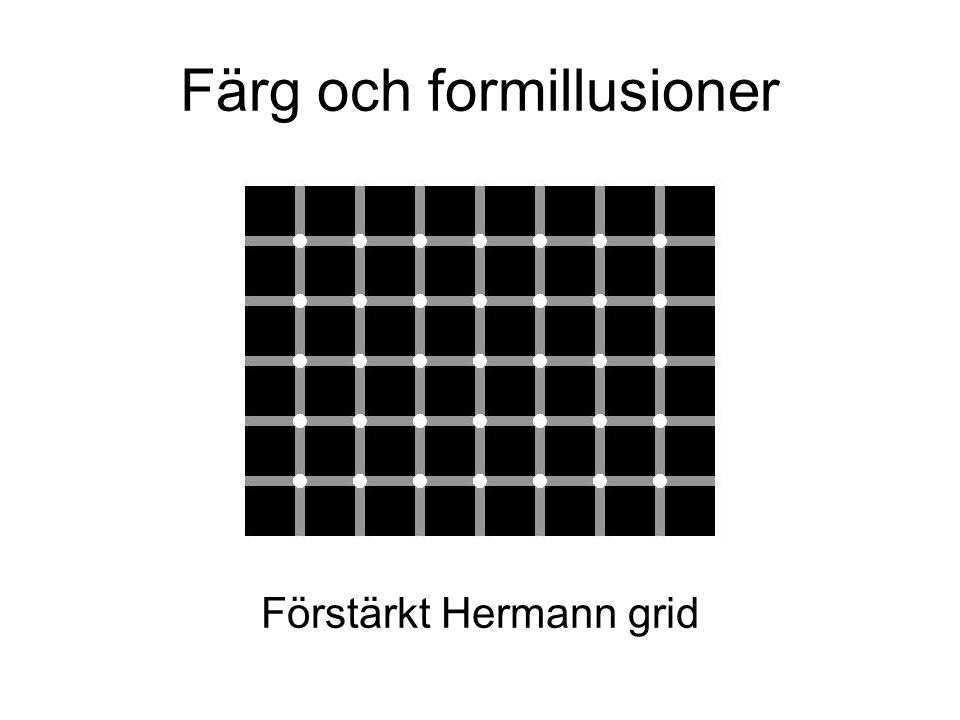 Färg och formillusioner Förstärkt Hermann grid