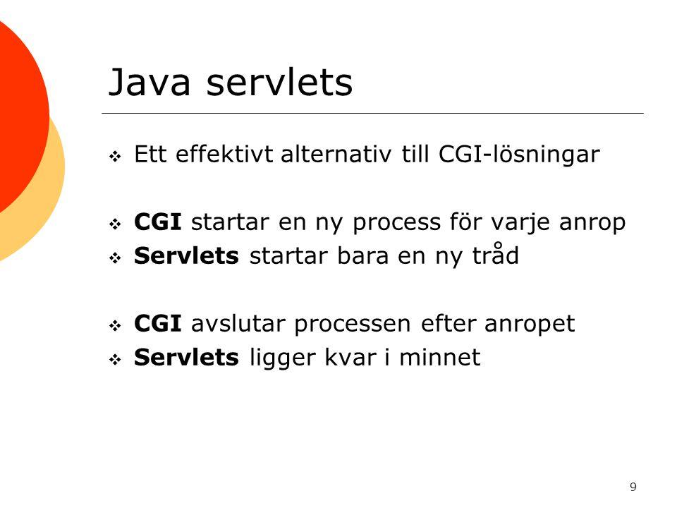 10 Klient-server med servlets
