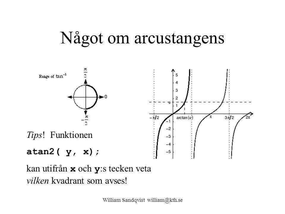 William Sandqvist william@kth.se Något om arcustangens Tips.