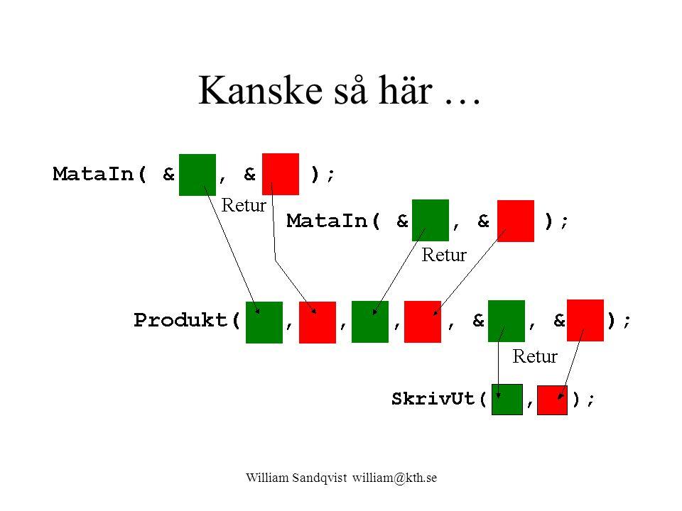 William Sandqvist william@kth.se Kanske så här …