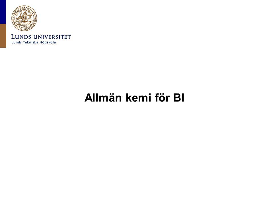 Allmän kemi för BI