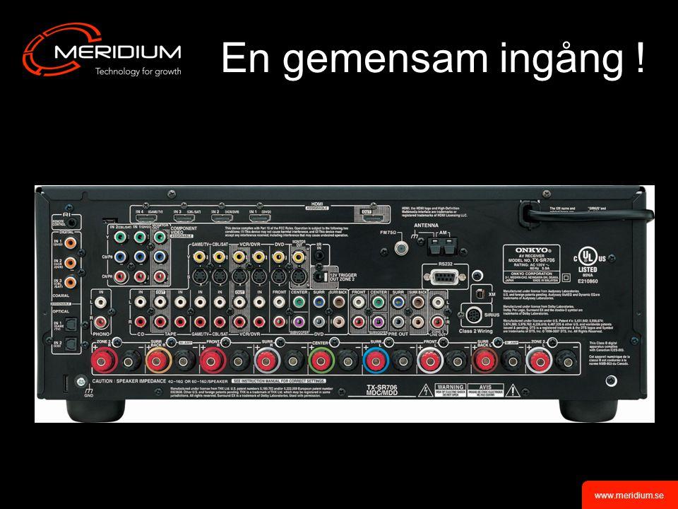 www.meridium.se En gemensam ingång !