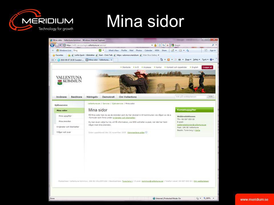 www.meridium.se Mina sidor
