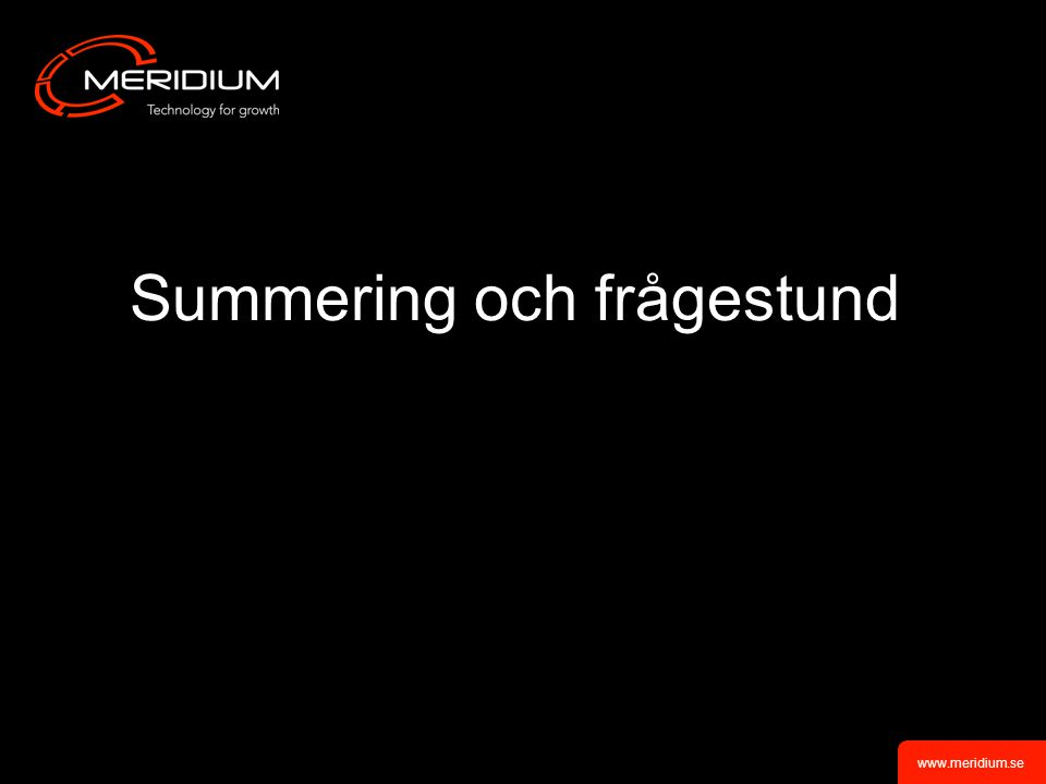 www.meridium.se Integration med HSA-katalog