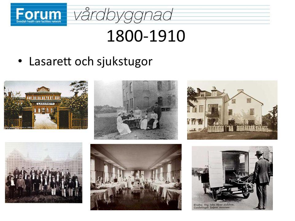 1800-1910 Lasarett och sjukstugor