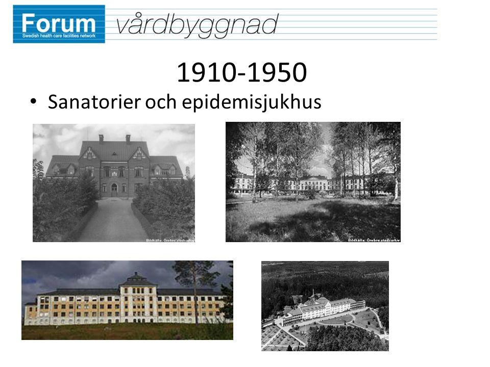 1910-1950 Sanatorier och epidemisjukhus