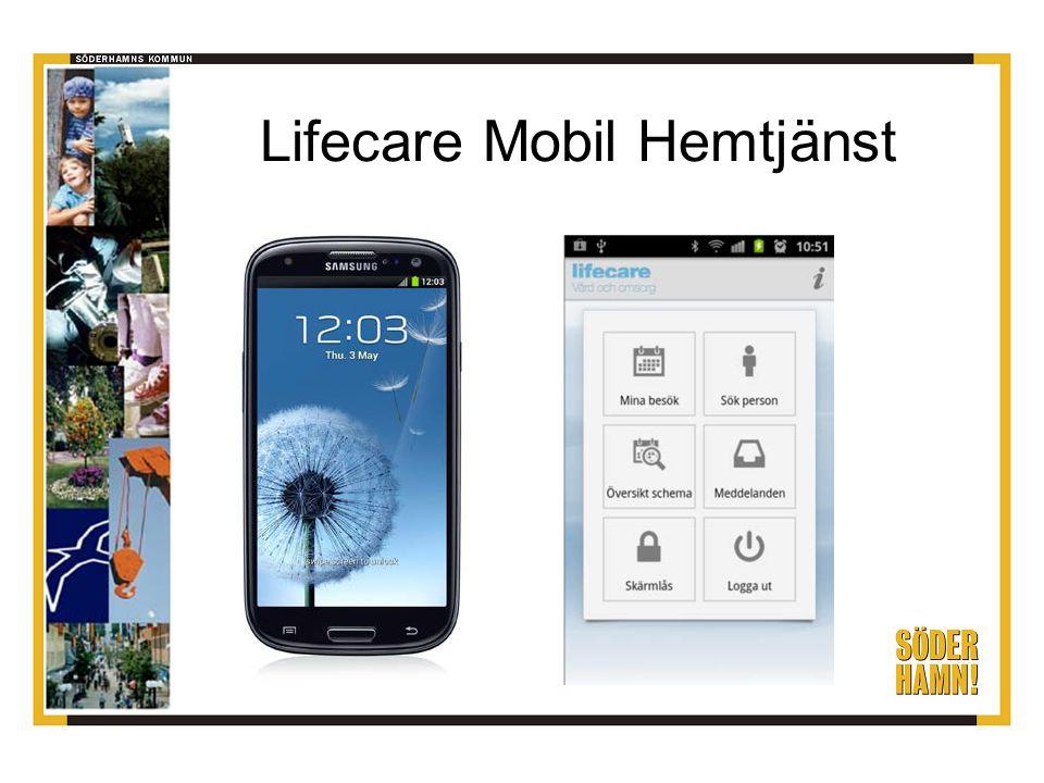 Arbetsplanen från Laps Care in i mobilen Läsa, dokumentera SoL-anteckningar och genomförandeplaner.