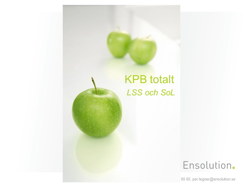 Per Tegnér, Ensolution AB, Mobil 0709-17 65 65, per.tegner@ensolution.se Konsumtion SOL