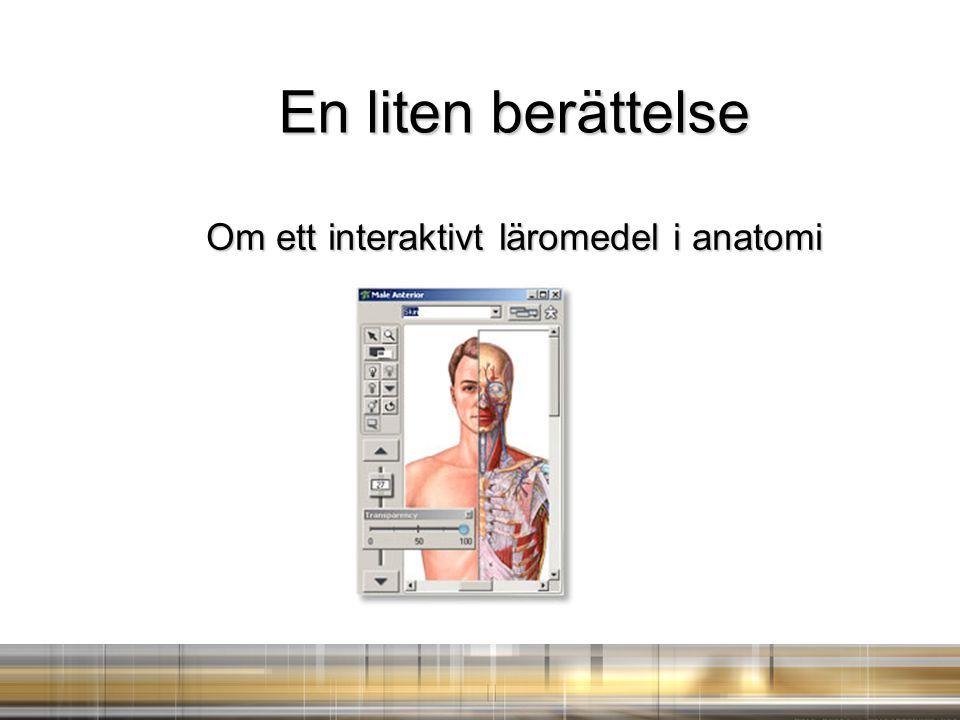 En liten berättelse Om ett interaktivt läromedel i anatomi