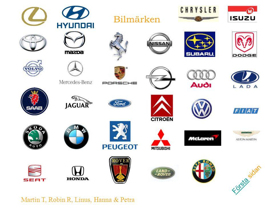 Bilmärken FörstaFörsta sidan Martin T, Robin R, Linus, Hanna & Petra