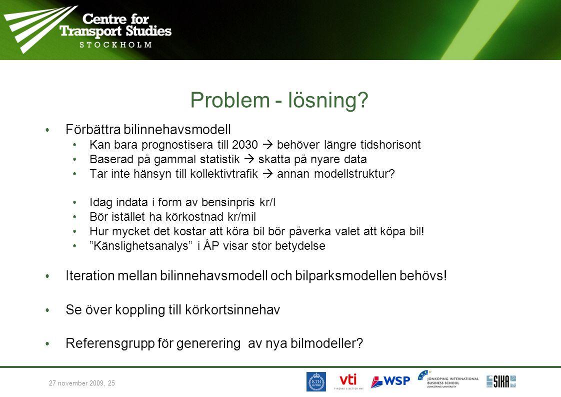 27 november 2009, 25 Problem - lösning.