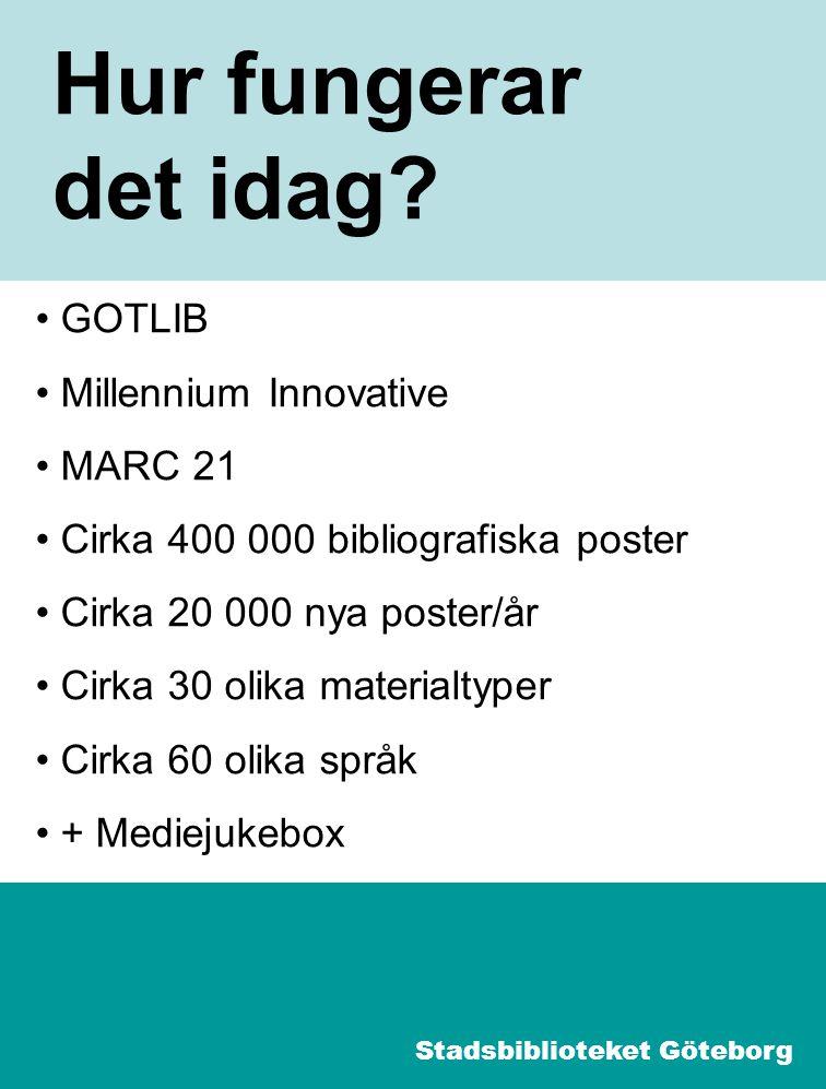 3 Import BTJ OCLC Libris Ebsco m.fl. Stadsbiblioteket Göteborg