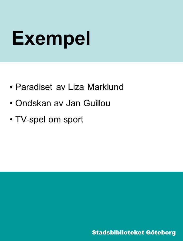 8 Paradiset I Sökning: Paradiset Liza Marklund Ljudbok Stadsbiblioteket Göteborg