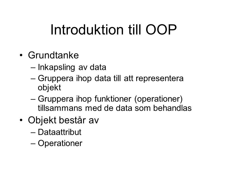 Exempel (ofstream) #include #include using namespace std; // Glöm ej denna.