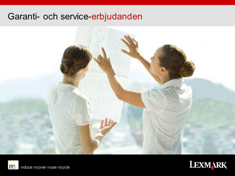 Garanti- och service-erbjudanden