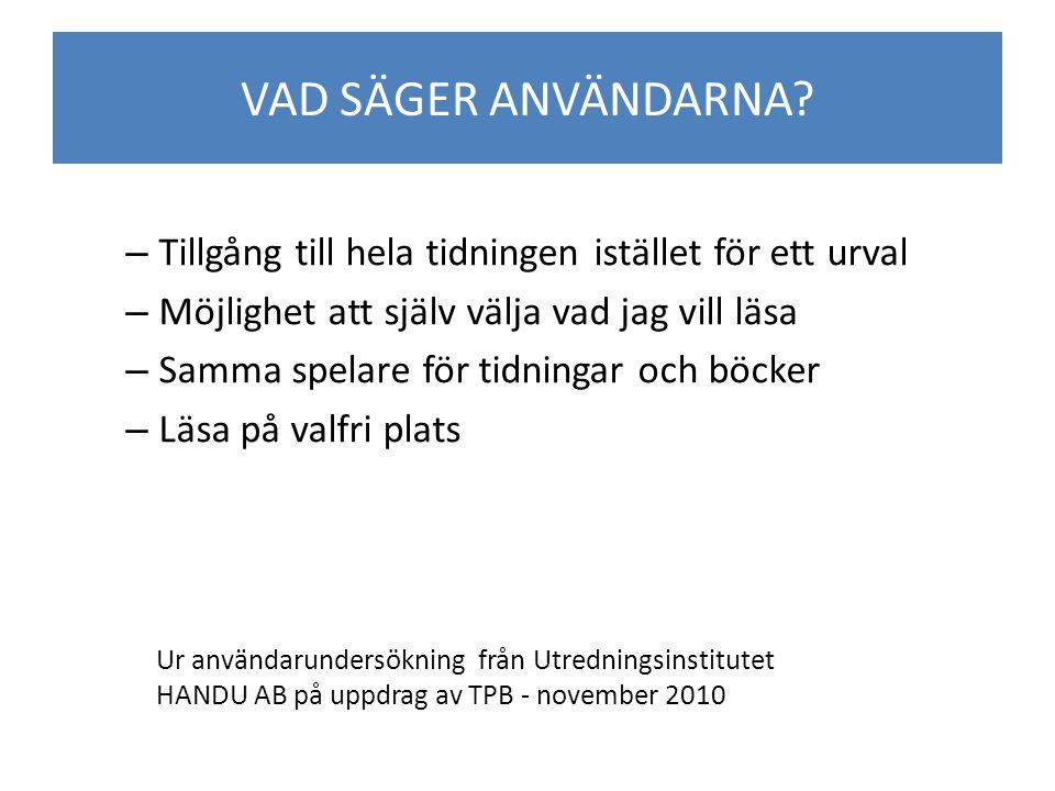 Bakgrund – Öka tillgänglighet och valfrihet – Införa ny teknik – Samordna talboks- och taltidningsverksamheten – Effektivisera verksamheten Rapporter till regeringen från TPB och TTN Nationellt Digitalt Distributionssystem (2008-03-31) Framtida inriktning för taltidningsverksamheten i Sverige (2008-10-31) Samverkan för ökad tillgänglighet (2008-10-31) BAKGRUND TILL FÖRÄNDRINGEN
