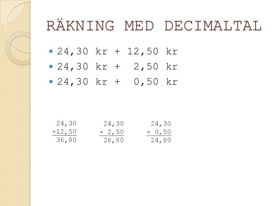 MULTIPLIKATION MED UPPSTÄLLNING 134 × 5 670 5 × 134 0,5 × 13,4 13,4 × 0,5 6,70