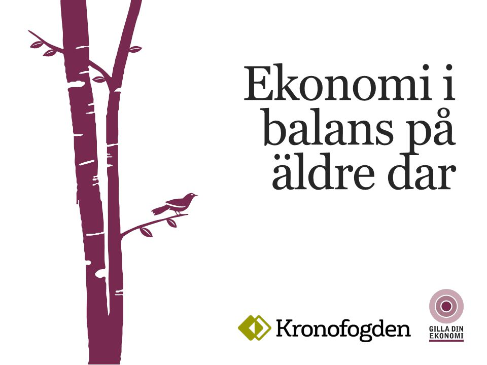 EKONOMI I BALANS PÅ ÄLDRE DAR