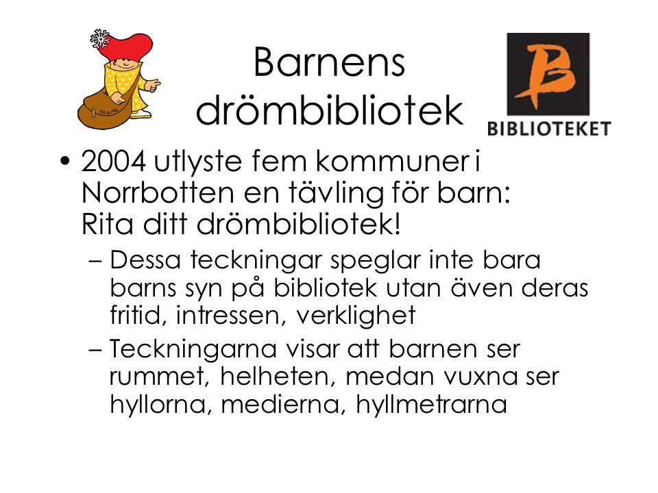 Barnens drömbibliotek 2004 utlyste fem kommuner i Norrbotten en tävling för barn: Rita ditt drömbibliotek! –Dessa teckningar speglar inte bara barns s
