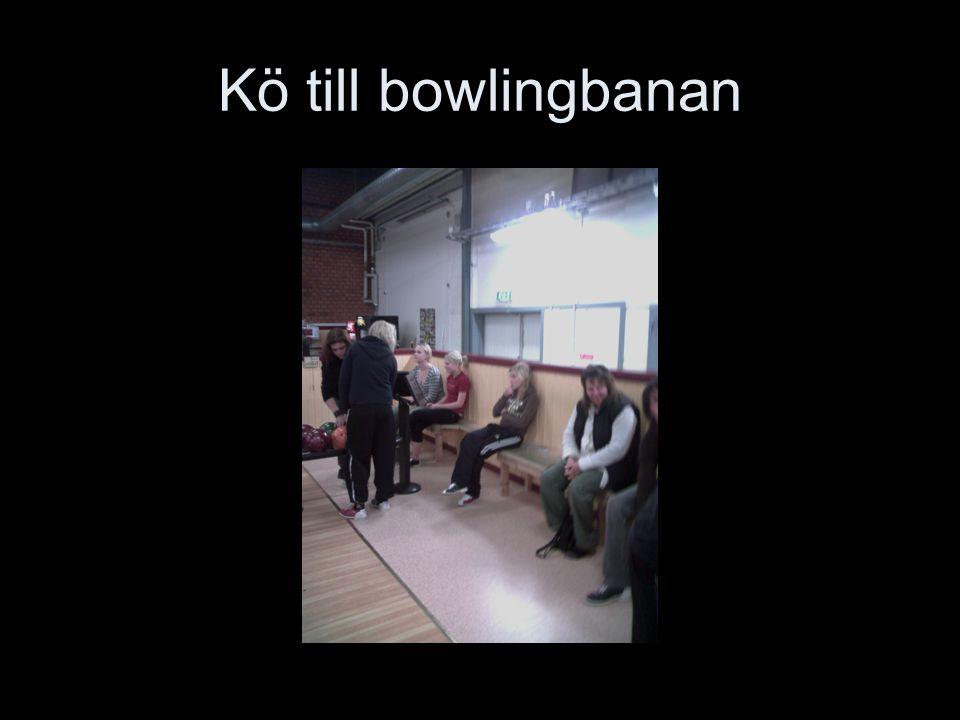 Kö till bowlingbanan