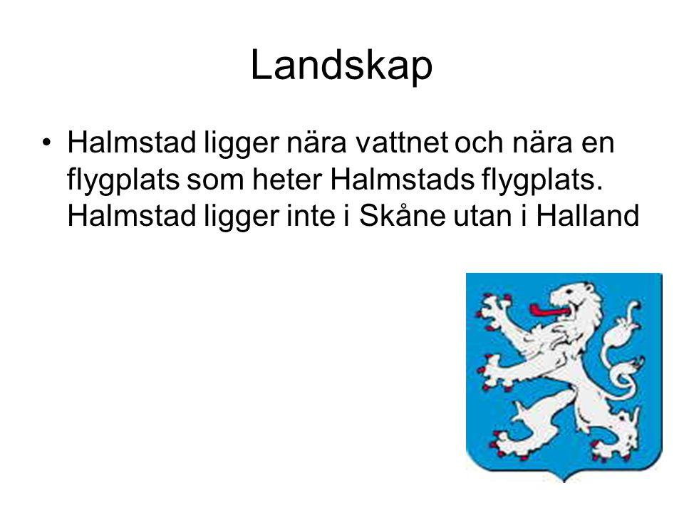 Landskap Halmstad ligger nära vattnet och nära en flygplats som heter Halmstads flygplats. Halmstad ligger inte i Skåne utan i Halland