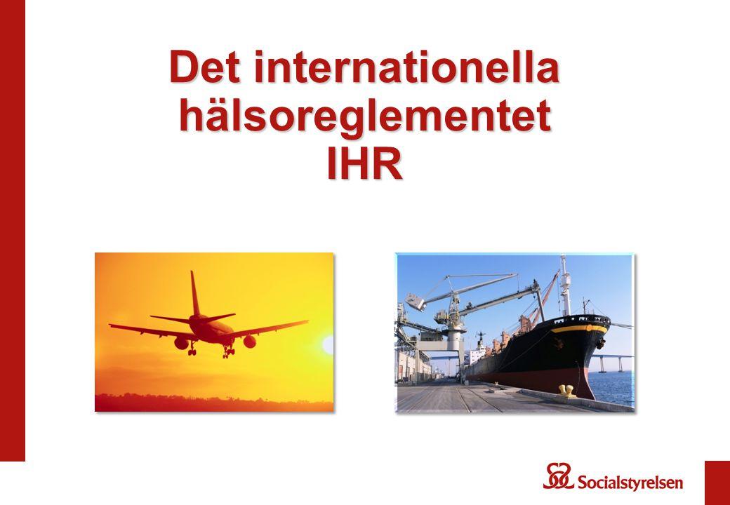Det internationella hälsoreglementet IHR