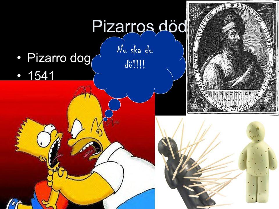 Pizarros död Pizarro dog 1541 Nu ska du dö!!!!