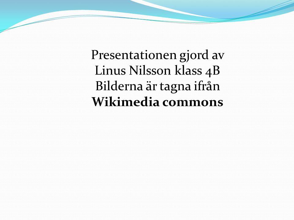Presentationen gjord av Linus Nilsson klass 4B Bilderna är tagna ifrån Wikimedia commons