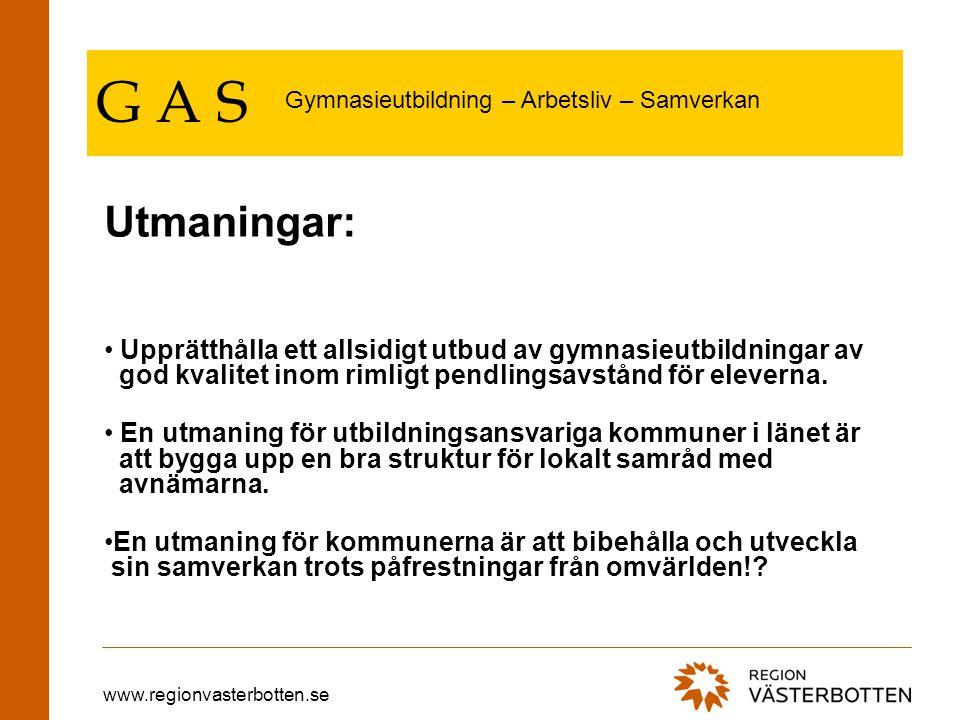 www.regionvasterbotten.se G A S I Västerbottens län finns det ett allsidigt utbud av gymnasie- utbildningar.