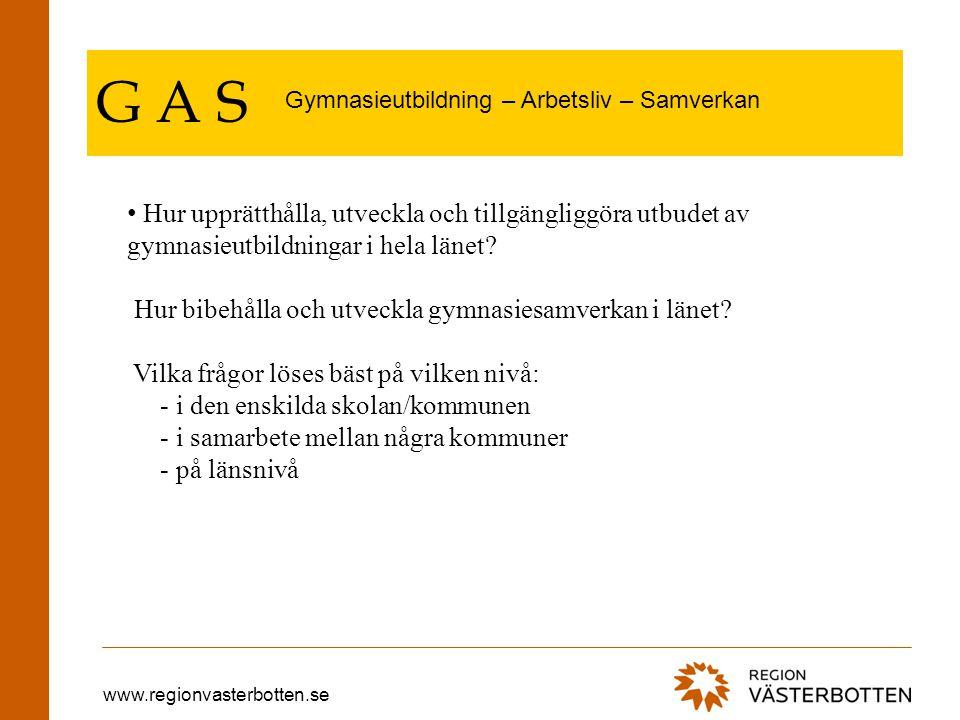 www.regionvasterbotten.se G A S Tel.