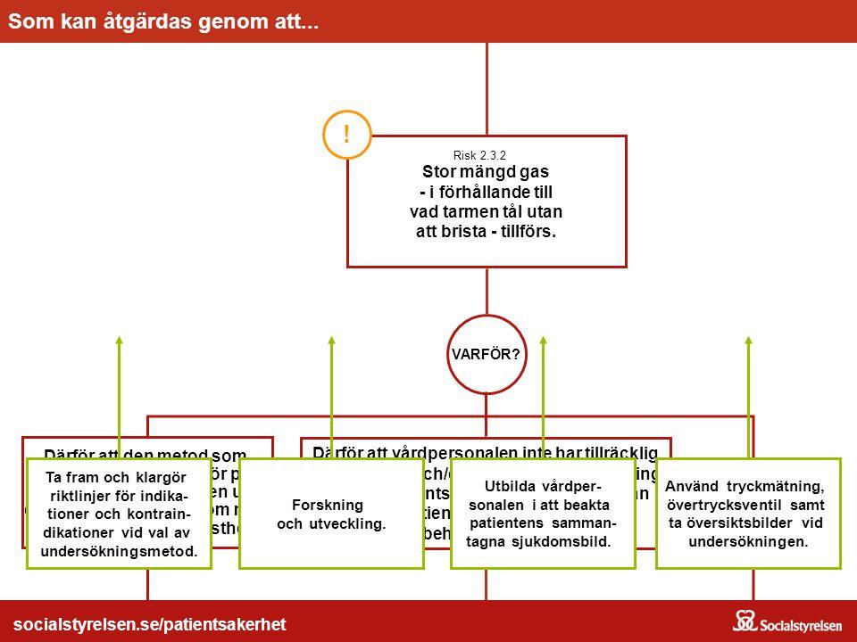 socialstyrelsen.se/patientsakerhet  Används riskanalys för att utveckla patientsäkerheten.