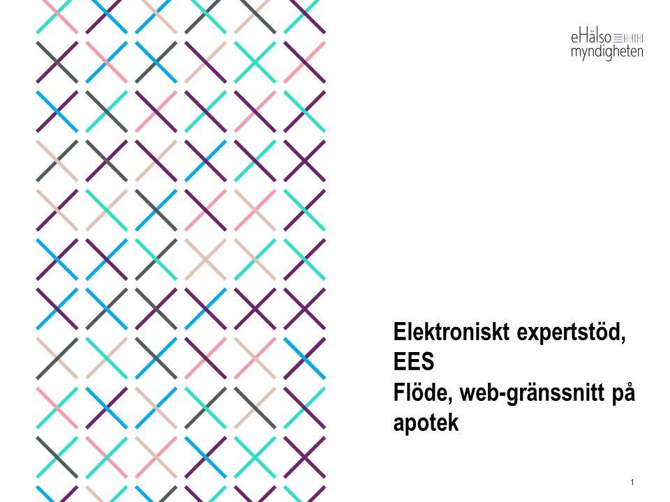 Elektroniskt expertstöd, EES Flöde, web-gränssnitt på apotek 1