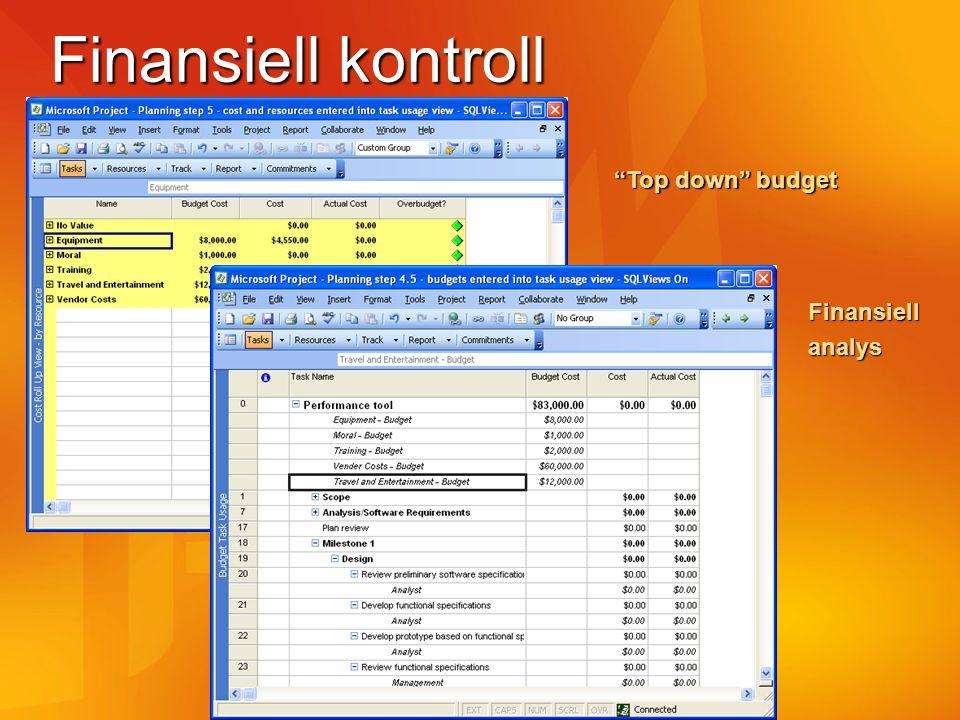Finansiell kontroll Top down budget Finansiellanalys