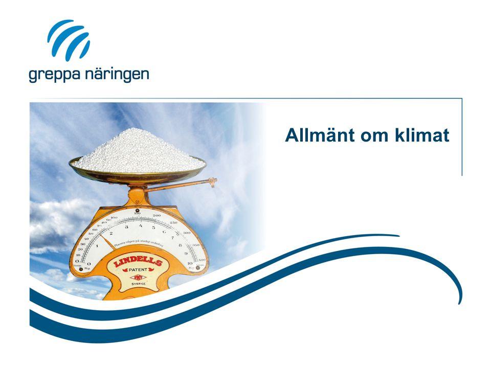 Åtgärder för minskad klimatpåverkan I.Förbättrad produktivitet och effektivitet  Resurseffektiv, hög och jämn produktion.
