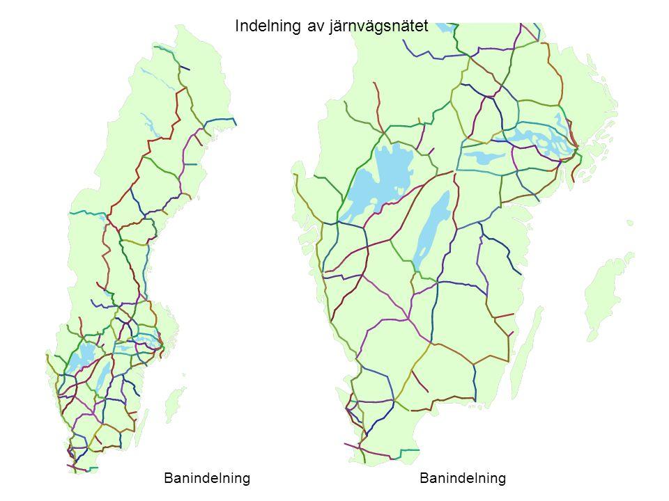 Indelning av järnvägsnätet Banindelning