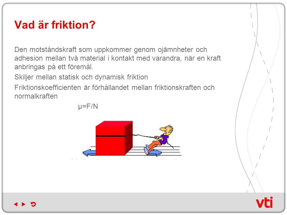 Vad är friktion? Den motståndskraft som uppkommer genom ojämnheter och adhesion mellan två material i kontakt med varandra, när en kraft anbringas på