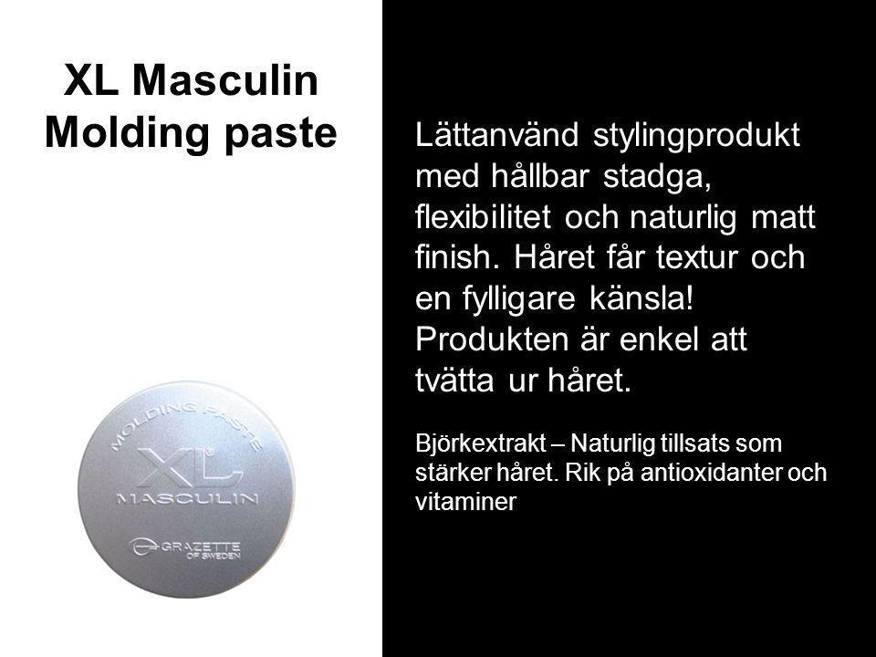 XL Masculin Molding paste Lättanvänd stylingprodukt med hållbar stadga, flexibilitet och naturlig matt finish.