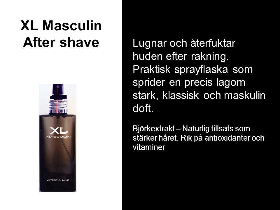 XL Masculin After shave Lugnar och återfuktar huden efter rakning.