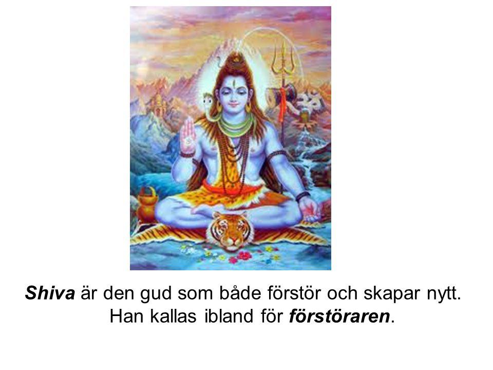 Shiva är den gud som både förstör och skapar nytt. Han kallas ibland för förstöraren.