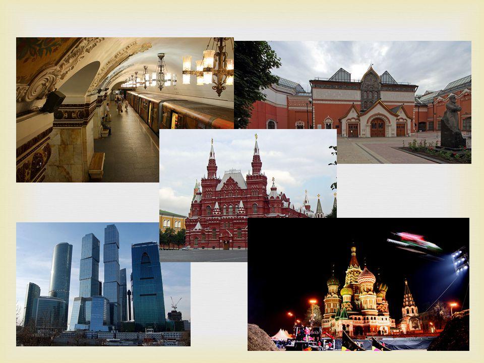   Moskva.Huvudstaden som imponerar med sina fina byggnader.
