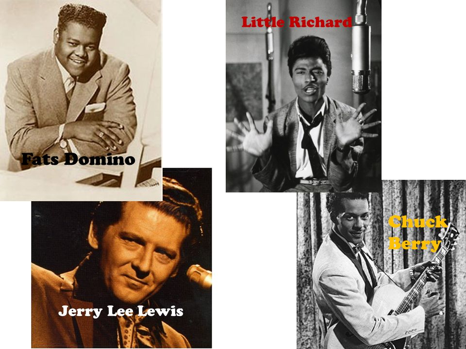 Jerry Lee Lewis Fats Domino Little Richard Chuck Berry