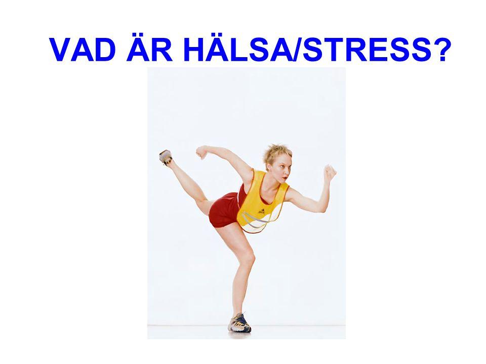 VAD ÄR HÄLSA/STRESS?