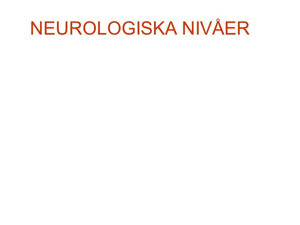 NEUROLOGISKA NIVÅER