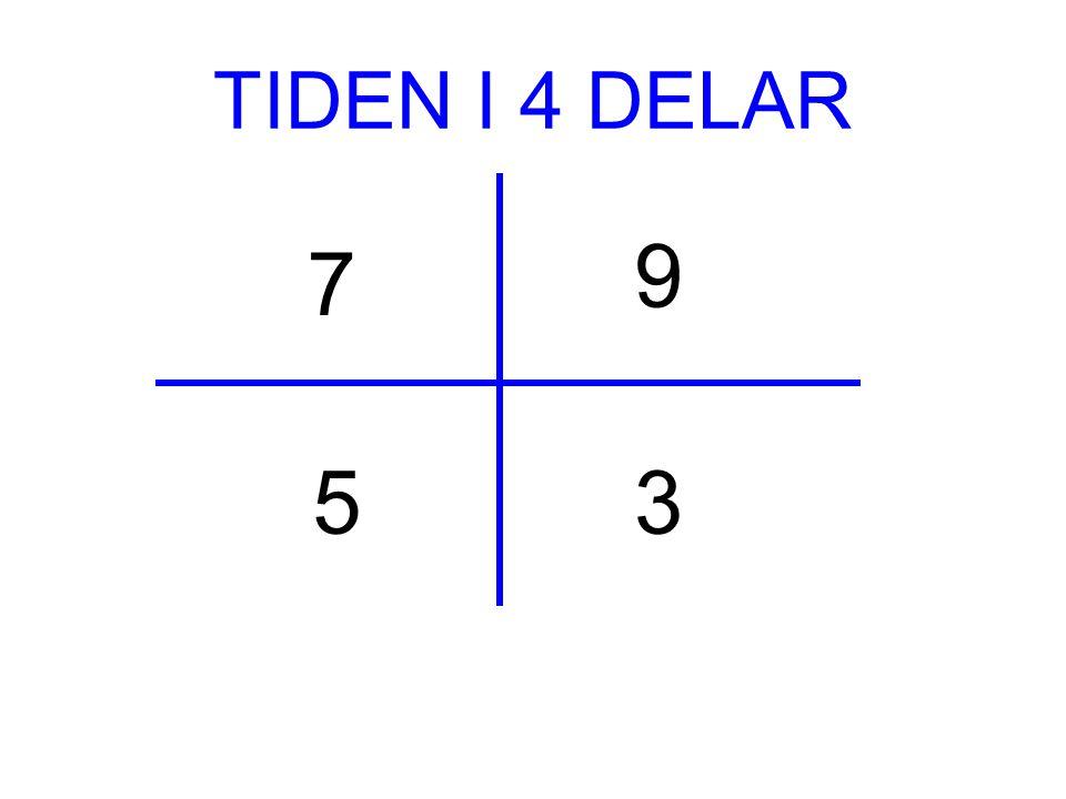 7 3 9 5 TIDEN I 4 DELAR