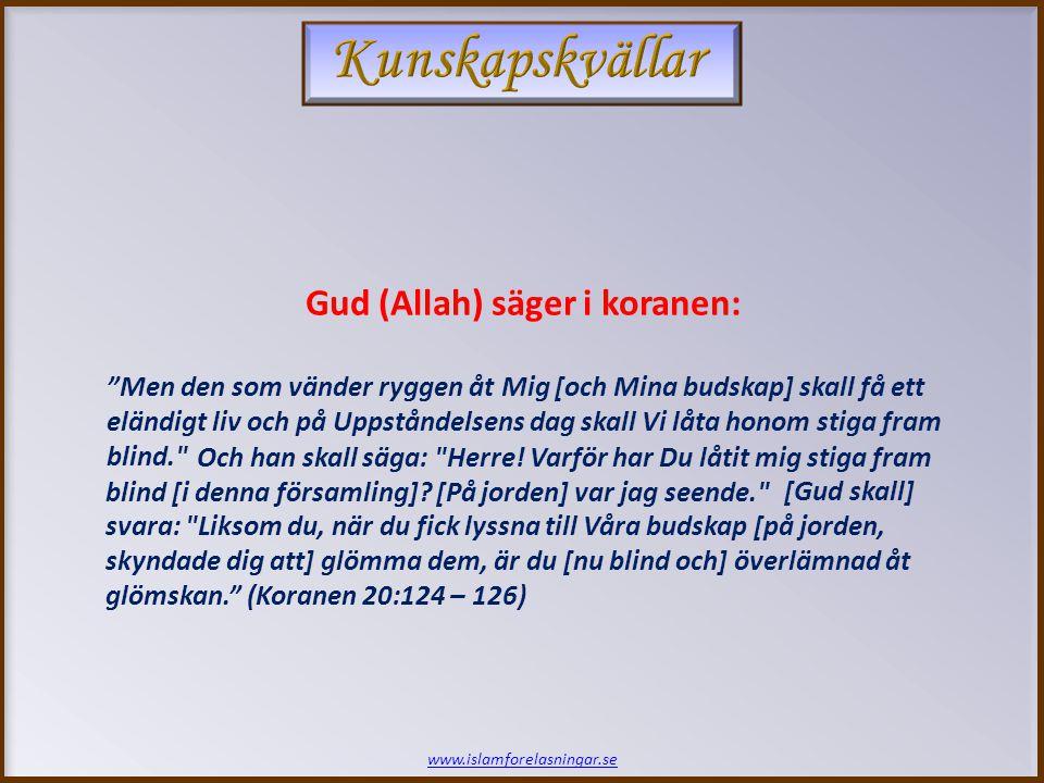 www.islamforelasningar.se Sjätte Kvällen SLUT!