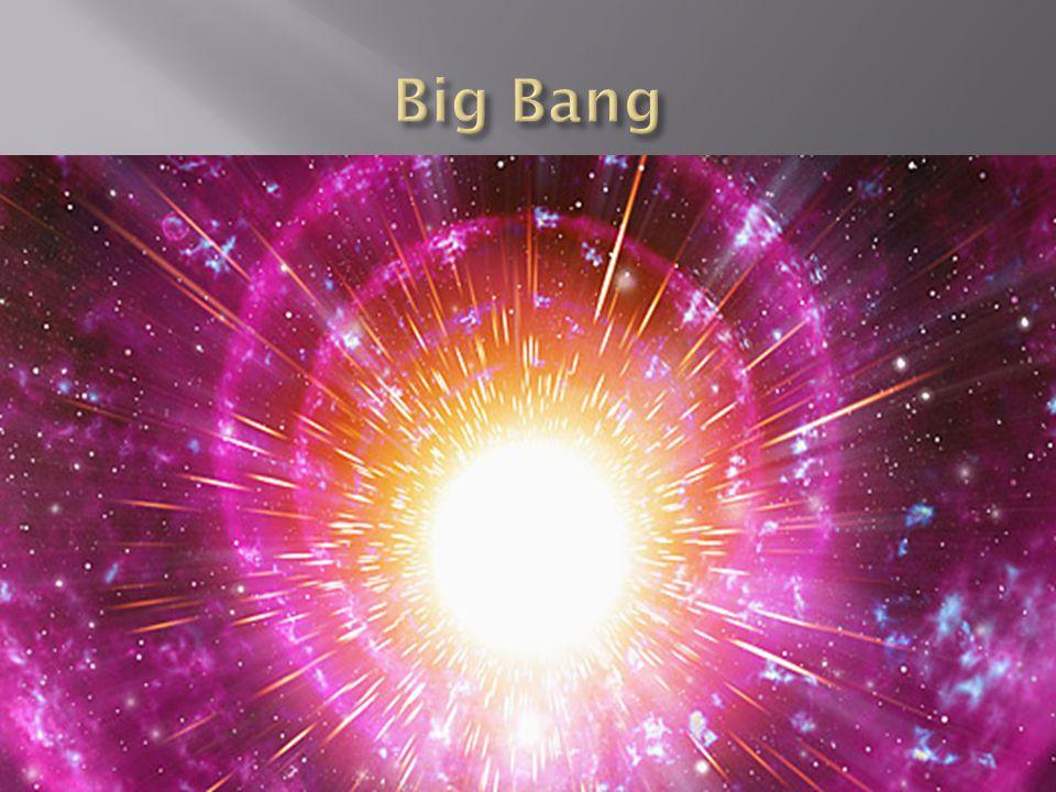 Det mest sannolika teorin om universums uppkomst är Big Bang teorin, eller den stora smällen som det heter på svenska.