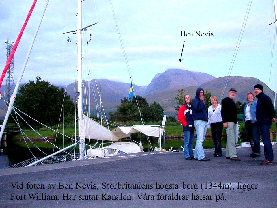 Vid foten av Ben Nevis, Storbritaniens högsta berg (1344m), ligger Fort William.