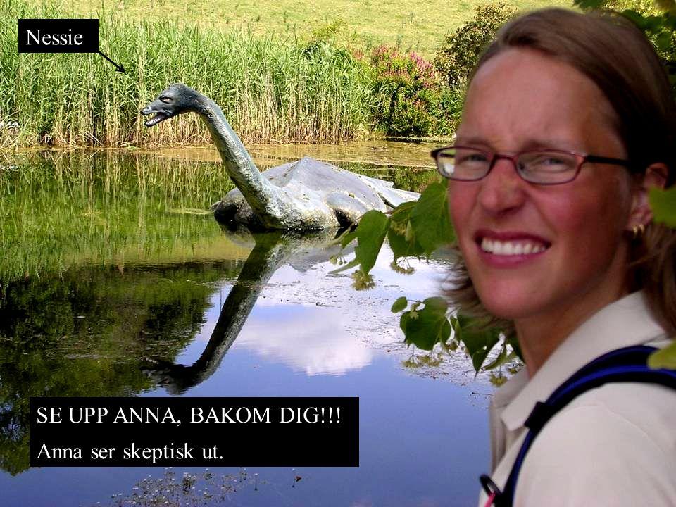 SE UPP ANNA, BAKOM DIG!!! Anna ser skeptisk ut. Nessie