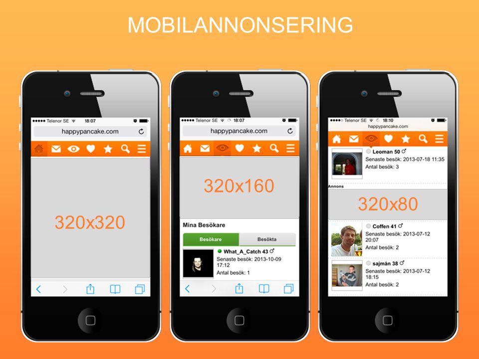 MOBILANNONSERING 320x320 320x160 320x80